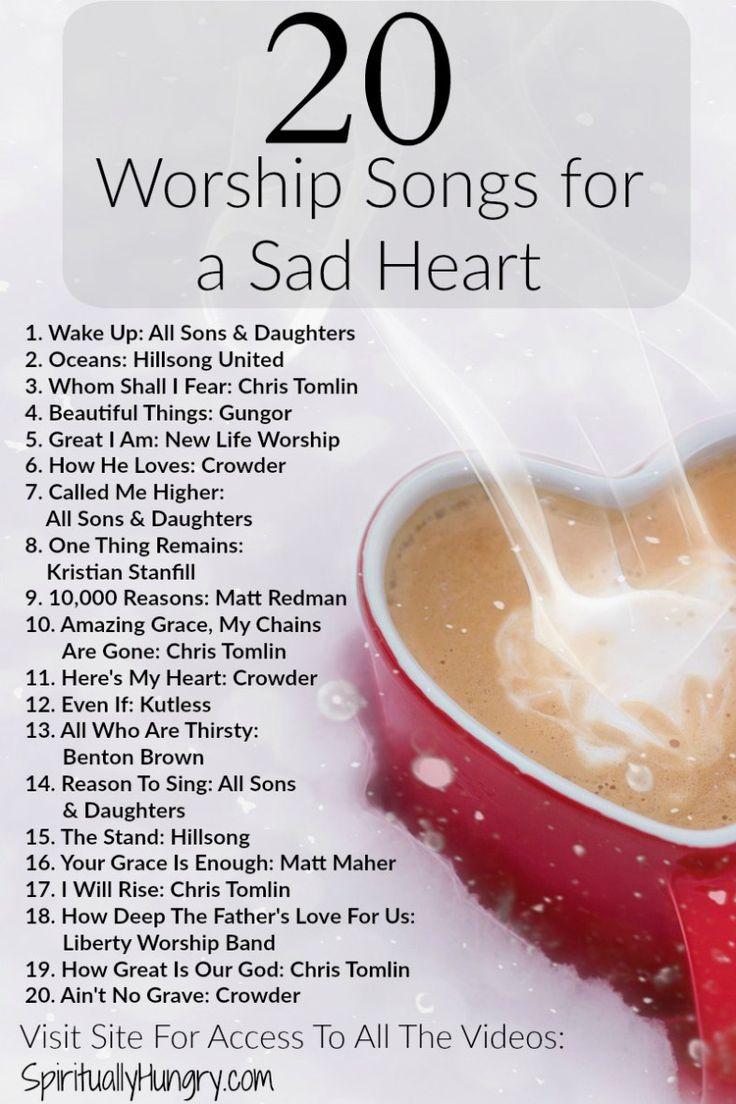 20 worship songs for sad